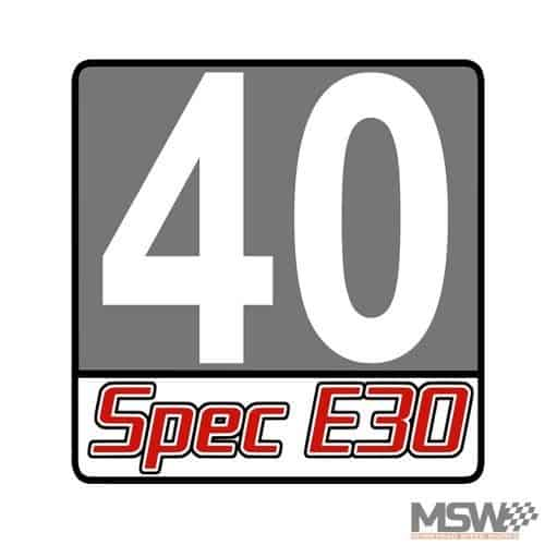 Spec E30 Number Board, Gray